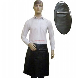 Faux Imitative Leather Apron Half Length With Two Pockets