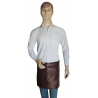 Chocolate brown Short Waist Apron in Faux Imitative Leather