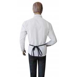 Money Apron Bag in Faux Leather - Waiters Money Pouch with canvas ties
