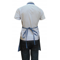 Denim Fabric Bib Length Apron with Adjustable Neck Strap & Colour Stitching