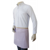 Brown Dots Canvas Quarter Apron with Self Material Waist Tie and Pocket