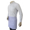 Black Polka Dots Matty Quarter Apron with Self Material Waist Tie and Pocket