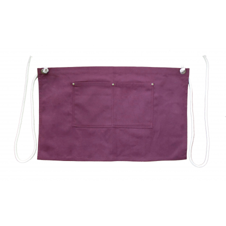Burgundy Canvas Waist Apron With Pocket & Removable Rope Waist Strap's
