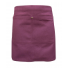 Burgundy Canvas Waist Apron With Pocket & Removable Faux Leather Waist Strap's