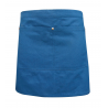 Teal Blue Canvas Waist Apron With Pocket & Removable Real Leather Waist Strap's
