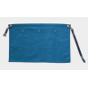Teal Blue Canvas Waist Apron With Pocket & Removable Faux Leather Waist Strap's