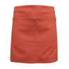 Tan Canvas Waist Apron With Pocket & Removable Faux Leather Waist Strap's