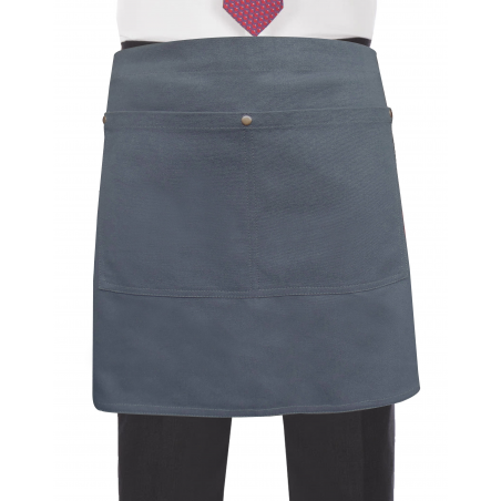Grey Canvas Waist Apron With Pocket & Removable Rope Waist Strap's