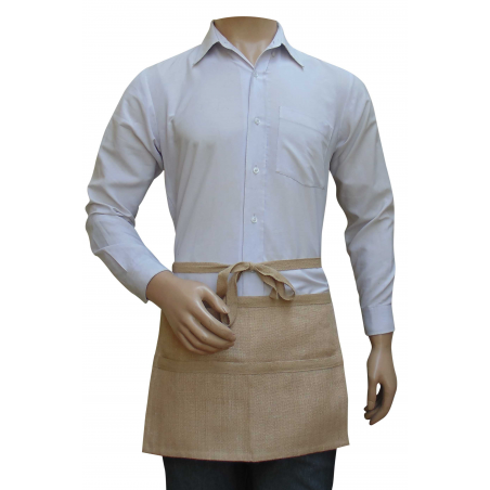 Hessian Apron Quarter Length With Pockets - For Gardening, Tools and Trader