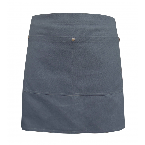 Grey Canvas Waist Apron With Pocket & Removable Canvas Waist Strap's