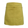 Yellow Canvas Waist Apron With Pocket & Removable Real Leather Waist Strap's